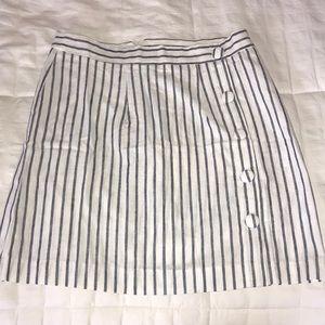 Forever 21 dark blue and white stripped skirt!